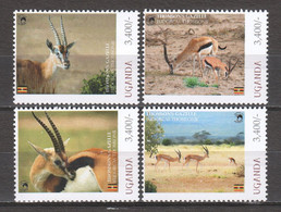 Uganda - MNH Set THOMSON'S GAZELLE - Animalez De Caza