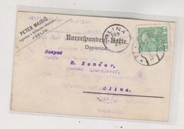 SLOVENIA AUSTRIA 1909 CELJE CILLI Nice Postcard Perfin PETER MAJDIC - Slovenia