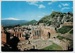 TAORMINA     TEATRO  GRECO  ROMANO     2 SCAN  (VIAGGIATA) - Andere Steden