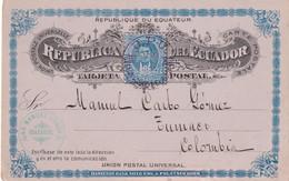 EQUATEUR 1895   ENTIER POSTAL/GANZSACHE/POSTAL STATIONARY CARTE DE GUAYAQUIL - Ecuador