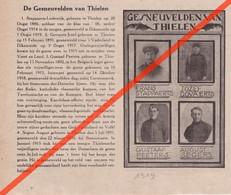 DE GESNEUVELDEN VAN THIELEN - TIELEN - KASTERLEE    - 1914 1918 - GEDRUKTE AFBEELDING (uit Een Tijdschrift Van 1919) - 1914-18