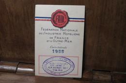 Carte De Membre De La Fédération Nationale De L'industrie Hotelière 1955 Café Elbeuf - Organizaciones