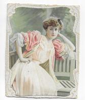 Photo Ancienne Signée REUTLINGER  Jeune Femme Romantique Photo Artistique Collage Sur Carton épais 12 / 15 Cm Avec Le Ca - Old (before 1900)