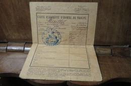 Carte D'identité D'homme De Troupe Raillot 3 Eme Régiment De Zouaves 2 E Class Capo Sergent Classe 1925 - Organizzazioni