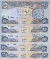 IRAQ 250 DINARS 2003 P-91 LOT X5 UNC NOTES - Iraq
