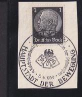 RAL2 /  Deutsches Reich  Hindenburg  Briefstück SST München 1939 - Used Stamps