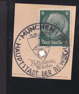 RAL2 /  Deutsches Reich  Hindenburg  Briefstück SST München 1938 - Used Stamps