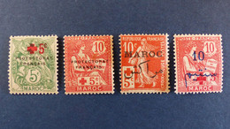 Maroc - YT N° 59 - 60 - 61 - 62 * Neuf Avec Charnière - Voir Scan - Neufs
