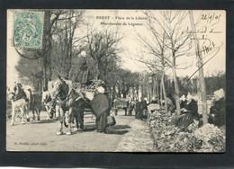 CPA - BREST - Place De La Liberté - Marchandes De Légumes, Animé - Attelages - Brest