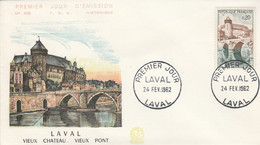 FDC 1962 LAVAL - 1960-1969