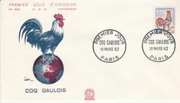 FDC 1962 COQ GAULOIS - 1960-1969