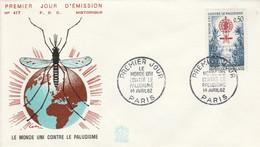 FDC 1962 LUTTE CONTRE LE PALUDISME - 1960-1969