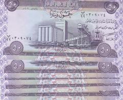 IRAQ 50 DINARS 2003 P-90 LOT OF X5 UNC NOTES REPLACEMENT - Iraq
