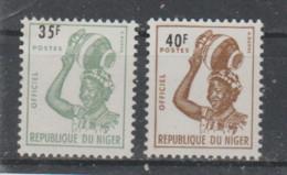 Niger ~ 1962  Service  N° 7A + 7B Neuf X X= - Niger (1960-...)