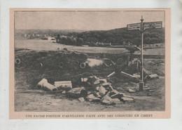 Une Fausse Position D'artillerie Faite Avec Des Conduites En Ciment Entre Dolvingen Finstingen Saarburg - 1914-18