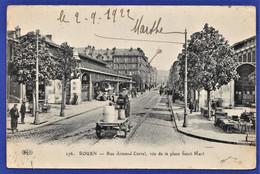 CPA 76 ROUEN - Rue Armand Carrel, Vue De La Place Saint-Marc - Rouen