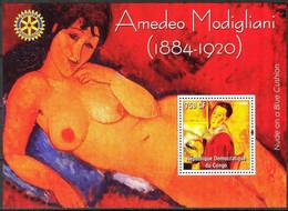 {F0007} LABEL Art Paintings A. Modigliani S/S MNH Cinderella ! - Fantasy Labels