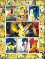 {F0035} LABEL Art Paintings P. Picasso Sheet MNH Cinderella ! - Fantasy Labels