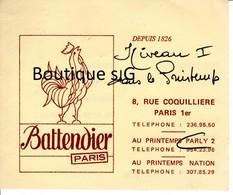 Publicité Battendier Paris Paris Printemps Traiteur - Publicités