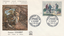FDC 1962 PEINTURE DE COURBET - 1960-1969