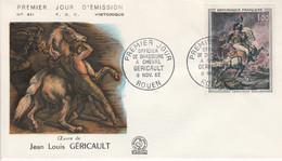 FDC 1962 PEINTURE DE DELACROIX - 1960-1969