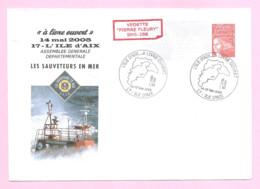 """PAP Illustré LUQUET RF- TVP Rouge - Neuf.  Vedette """" PIERRE FLEURY """" SNS-288. ILE D'AIX. - Naval Post"""
