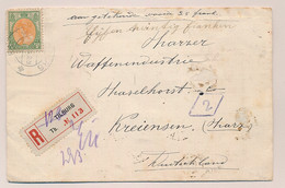 Nederland - 1921 - 40 Cent Bontkraag, Enkelfrankering Op R-cover Van Tilburg Naar Kreiensen / Deutschland - Briefe U. Dokumente