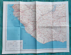 Ancienne Carte AOF Afrique Occidentale Française - 1955 - Mapas Geográficas