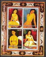 {F0024} LABEL Art Paintings A. Modigliani Sheet MNH Cinderella ! - Fantasy Labels