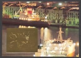 Guyana, 1993, Dog, Bear, Rabbit, Cougar, Butterfly, Dinosaur, Genova, Scouting, Gold, MNH Imperforated, Michel Block 309 - Guyana (1966-...)
