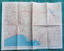 Ancienne Carte Afrique Occidentale Nigéria - Années 1940 - Mapas Geográficas