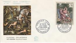FDC 1963 PEINTURE DE DELACROIX - 1960-1969