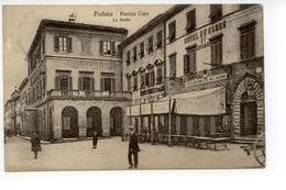 Cartolina Pistoia Piazza Cino La Posta 1913 Viaggiata - Pistoia