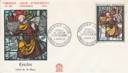 FDC 1963 VITRAIL DE CONCHES - 1960-1969