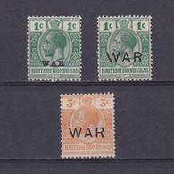 BRITISH HONDURAS 1917, SG #116-120, Part Set, MH/NG - Honduras Britannique (...-1970)