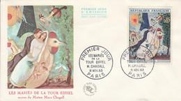 FDC 1963 PEINTURE DE CHAGALL - 1960-1969