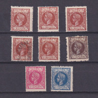 PUERTO RICO 1898, Sc #135-134, Part Set, King Alfonso XIII, MH/Used - Puerto Rico