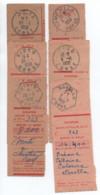 CORSE Oblitérations Sélection De Cachets / Récépissés De Mandats MOITA CAMPITELLO SISCO PINO CHIATRA NOVELLA - 1921-1960: Période Moderne