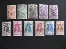 A). Cote Des Somalis: TB Série N° 177 Au N° 187 . Neufs XX. - Ongebruikt