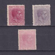 PUERTO RICO 1881, Sc #42-44, Part Set, King Alfonso XII, MH - Puerto Rico