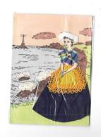 12109 - Carte Brodée, CHARENTES, Costume Régional, Création FRANCEPOQUE Le Majestic NICE, Illustré COUDURIER - Embroidered