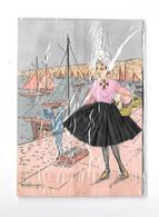 12110 - Carte Brodée, SABLES D'OLONNE , Costume Régional, Création FRANCEPOQUE Le Majestic NICE, Illustré COUDURIER - Embroidered