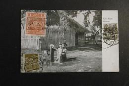 Österreich Mi.387+Dt.Reich+Strait Settlement Marken Als Wanderpostkarte Malacca-Leipzig Nach Wien 1923 - Brieven En Documenten