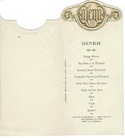 MENU- Diner -  L. Pasquier , Grand Hotel De La Poste - Mortain - 7 Aout 1927 - Menus