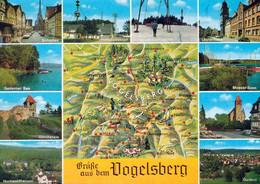 1 Map Of Germany * 1 Ansichtskarte Mit Der Landkarte - Vogelsberg Und Umgebung * - Maps