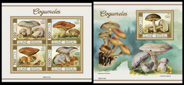 GUINEA BISSAU 2021 - Mushrooms II, M/S + S/S. Official Issue [GB210110] - Mushrooms