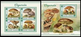 GUINEA BISSAU 2021 - Mushrooms I, M/S + S/S. Official Issue [GB210109] - Mushrooms