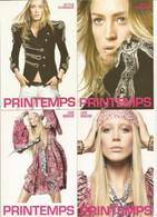 F27 / CARTE CPM Publicitaire PUB Card Cart' Com Artiste MODE PRINTEMPS Lot 4 CP Style Fille Femme Sexy Blonde - Fashion