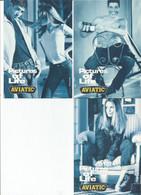 F27 / CARTE CPM Publicitaire PUB Card Cart' Com Artiste MODE AVIATIC  Lot 3 CP  Pictures Of Life - Fashion