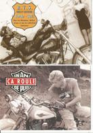 F27 / CARTE CPM Publicitaire PUB Card Cart' Com Artiste MODE Moto HARLEY DAVIDSON ça Roule  Lot 2 CP - Fashion